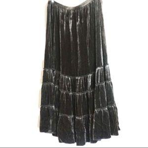 NWT Chico's Brown Prairie Velvet Skirt